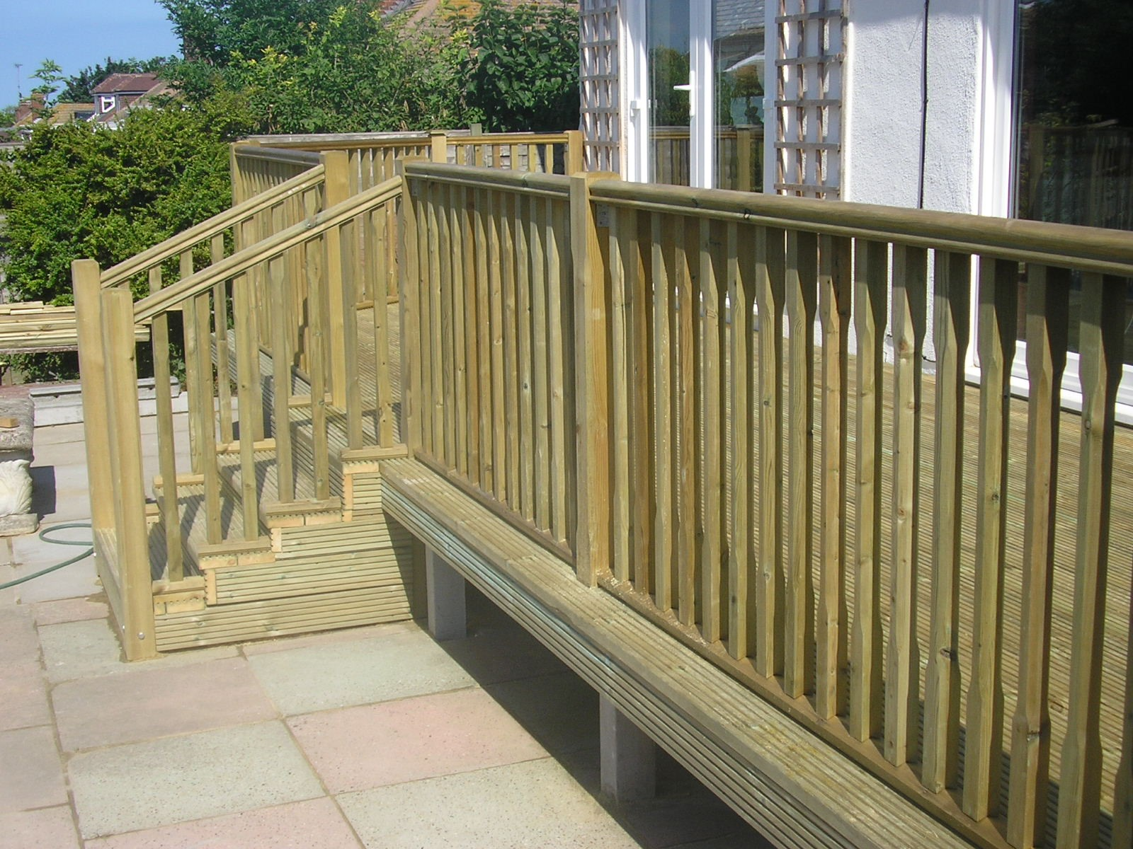 Raised Decking and Steps